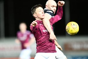 Conor Sammon scored the Bairns' second. Picture: Michael Gillen.