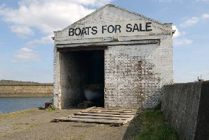Boat shed at Kirkcaldy harbour - abandoned for many years. Picture dates from 2002