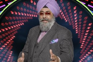 Hardeep Singh Kohli, one of the housemates of Celebrity Big Brother (Pic: Channel5)