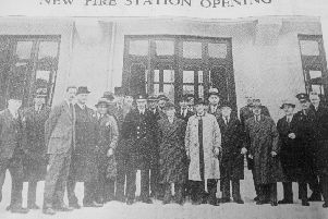 1938 opening of Kirkcaldy Fire Station, in Dunnikier Road,  built at a cost of �15,000