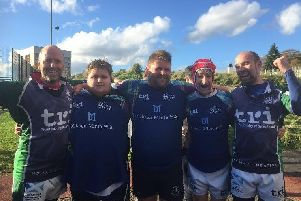 Fife Clan Unified Rugby Team members, Grant McAllister, Leon Skirving, Gordon Stalker, Jimmy wood and Jonny McGinty
