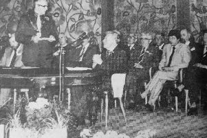 Fife Free Press 1981: John Kay - last  Provost of Kirkcaldy being made the first Freeman of Kirkcaldy District. Tribute is paid by Councillor Robert King