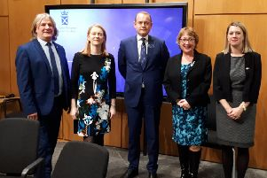 Fife SNP  MSPs meet Alex Hynes, chief executive of Scotrail. From left: David Torrance, Shirley-Anne Somerville, Alex Hynes, Annabelle Ewing, Jenny Gilruth
