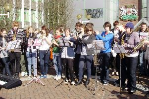 Fife EIS has pledged to campaign against any proposed cut to music tuition in Fife schools. Pictured are young people taking part in a music protest when cuts to music tuition were proposed in 2010.