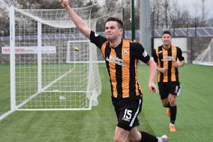 Anton Dowds is likely to lead the line for East Fife. Pic by Kenny Mackay.