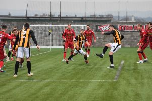 Both East Fife's goals at the weekend were straight from their training ground. Pic by Kenny Mackay.
