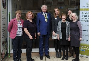 Provost Leishman opens the new Change Works hub with staff and guests