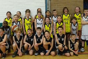 The Panthers boys and girls teams who took part in the U10 & U12 Regional Development League at Mackie Academy