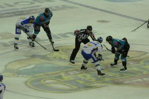 Fife Flyers in action against Belfast (Pic: Cath Ruane)