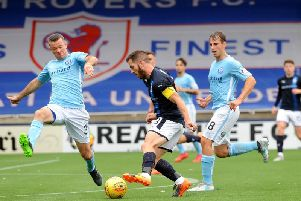 Liam Buchanan in action during Raith's 4-0 win the last time the sides met at Stark's Park. Pic: Fife Photo Agency