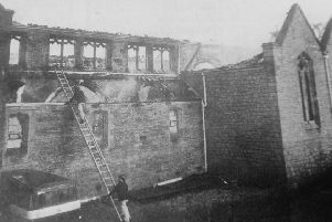 St John's Church, Kirkcaldy, destroyed by fire in 1975 - one of several major buildings burned down that year. (Pic: Fife Free Press)