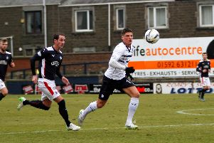Ross Callachan in action for Raith Rovers against Falkirk on February 14, 2015. Pic: Steve Gunn