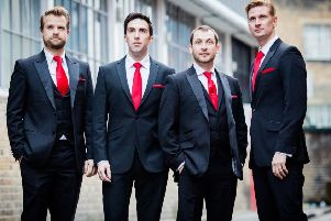 The Opera Boys are Colin Bryce, Robert Cherry, Richard Colvin and Michael Storrs.