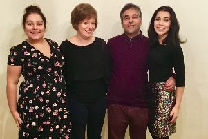 Rev Dr Andrew Gardner, interim minister at Christ Kirk, Glenrothes, and  his wife Julia and daughters Bethany and Karalyn