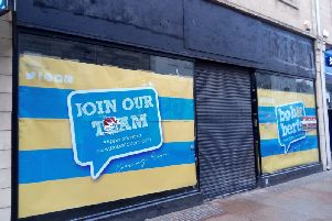 The outside of former Next store in Kdy High St which is set to become a Bob and Bert's coffee shop in July
