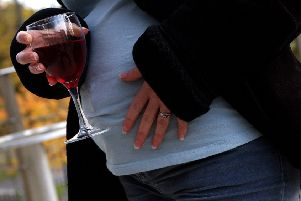 Concerns have been raised about pregnant women drinking alcohol. Pic: Rob McDougall.