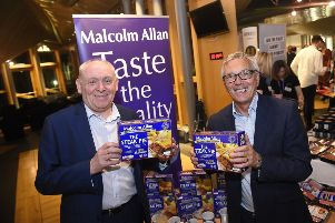 Stephen Vassie and Gordon Allan from Malcolm Allan at the launch of the new Asda Supplier Development Academy launch