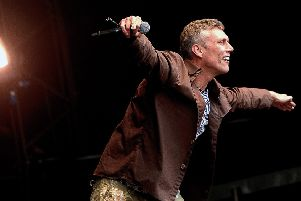 Bez of the Happy Mondays at 2012 Tn In The Park (Pic: Neil Doig)