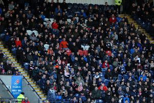 Home fans at Stark's Park (Pic by Fife Photo Agency)