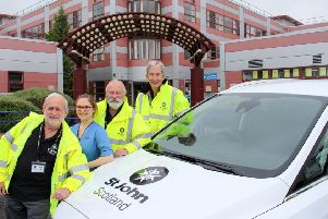 The St John Scotland volunteer Patient Transport team.