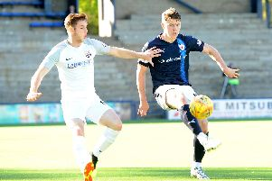 Kevin Nisbet in action the last time Raith Rovers hosted Montrose in September. Pic: Fife Photo Agency