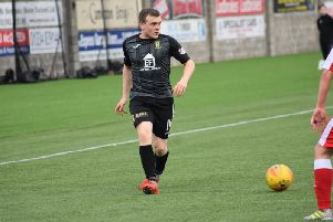 Liam Watt breaks forward for East Fife. Pic by Kenny Mackay.