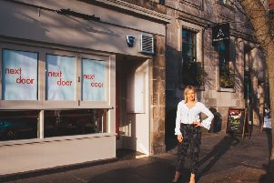 Julie Lewis outside the new Next Door restaurant. Picture: Cameron Prentice at Lightbox.