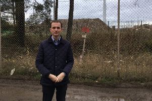 Stephen Gethins MP at the landfill site