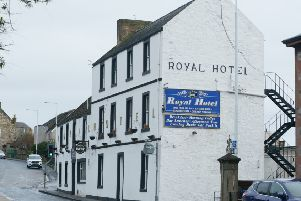 The Royal Hotel in Dysart closed suddenly last Thursday. Pic: George McLuskie.