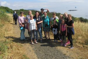 Locals taking part in the Coastal Path Walk with Ronnie Mackie during the first Kirkcaldy Walking Festival which took place last summer.
