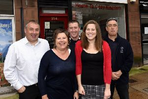 Members of the Greener Kirkcaldy team who have moved into new premises in the town. Pic:  Fife Photo Agency.