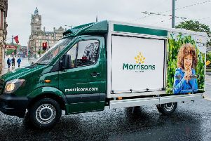 The Morrisons delivery vans will now be seen across Fife.