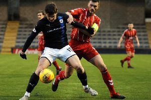 Action from Airdrie's previous trip to Stark's Park on December 1, which Raith won 2-0. Pic: Fife Photo Agency