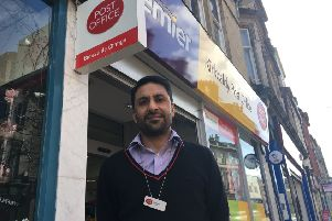 Postmaster Mobeen Akhtar said footfall on the High Street has fallen sharply since the closure of M&S.
