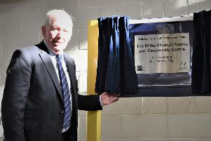 Fellow Rangers legend John Greig (pictured) unveiled the plaque proclaiming the renaming