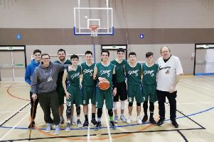 Banchory Stags edged Aberdeen Titans in the Grampian League Division 1 play-offs, winning the quarter-final first leg 64-59.