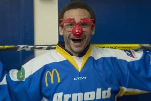 Fife Flyers player Evan Stoflet backs Specsavers' fundraiser for Red Nose Day 2019