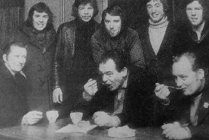 Miners strike 1974 - soup kitchen in Dysart, Kirkcaldy (Pic: Fife Free Press archives)