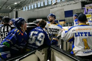 Fife Flyers at Coventry Blaze, March 2019 (Pic: Scott Wiggins)