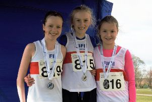 Fife AC's U13 Girls silver medal winners