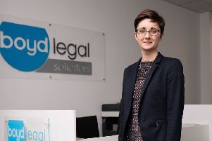 Kelly Matthews, senior associate, Boyd Legal, Kirkcaldy (Pic: Lifetime Photography)