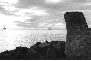 Black and white images...of Largo Bay were taken over the course of five or six visits in 2017 by artist Roger Palmer.