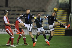 Raith met Saturday's opponents Dumbarton at Stark's Park in December (Pic by George McLuskie)