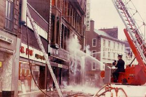 The �1m blaze destroyed the four-storey building on the High Street.