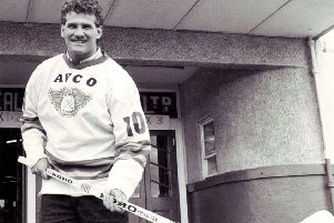 Fife Flyers - Canadian forward Fred Perlini, played 1987-88 (Pic: Bill Dickman/Fife Free Press)