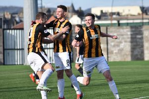 East Fife's celebrations after Kevin Smith's opener didn't last. Picture by Kenny Mackay.
