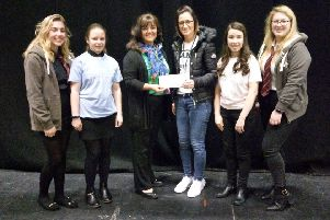 The overall winners with Julie Innes and Hazel Duthie from Benaiah