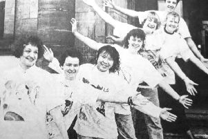 Viewforth High School art student at Kirkcaldy Museum in 1990.