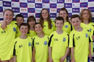 Step Rock swimmers at the SNAGs event in Glasgow.