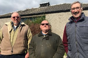 L-R Kirkcaldy Men's Shed members Blake Smith, John Milnne & Brian Wilson